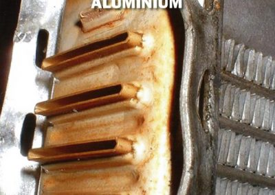 corrosion caused abrasion on aluminium